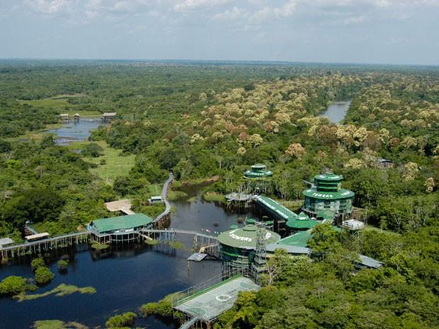 Hotel Ariaú Towers, na Amazônia (Foto: Divulgação/Ariaú)