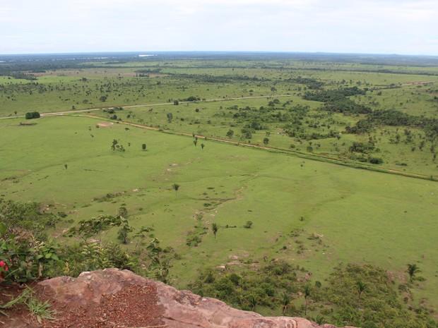 Vista de Serra dos Parecis é motivo de encanto entre turistas (Foto: Júnior Freitas/G1)