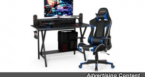 This Gaming Desk And Massage Chair Set Is Now On Sale For 35 Percent Off