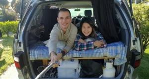 Casal larga casa para morar dois meses em carro na Nova Zelândia